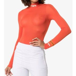 NWT Heron Preston Orange Bodysuit Small